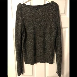 Ann Taylor Sparkly Olive green Sweater